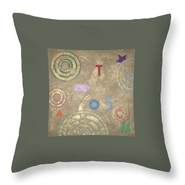 Throw Pillow featuring the painting Boogie 5 by Bernard Goodman