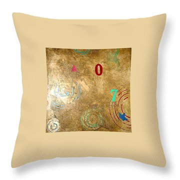 Throw Pillow featuring the painting Boogie 7 by Bernard Goodman