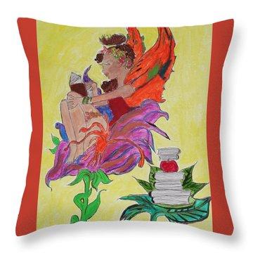 Book Fairy Throw Pillow