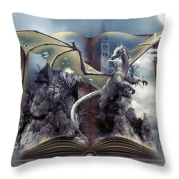 Book Of Fantasies Throw Pillow by G Berry