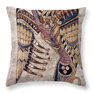 Book Of Kells: Saint Mark Throw Pillow by Granger