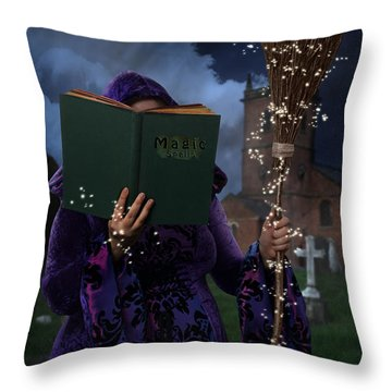 Book Of Magic Spells Throw Pillow