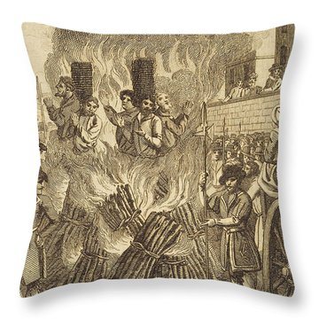 Book Of Martyrs, 1563 Throw Pillow by Granger