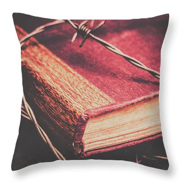 Barbed Wire Throw Pillows