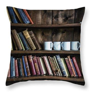 Book Shelf Throw Pillow