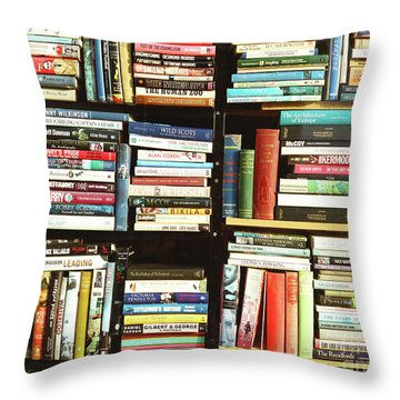 Throw Pillow featuring the photograph Book Shop by Rebecca Harman