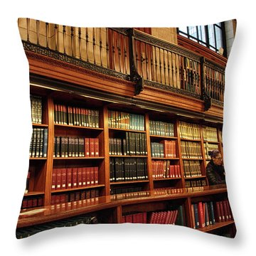 Throw Pillow featuring the photograph Book Worm by Jessica Jenney