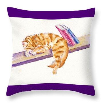 Bookend Throw Pillow