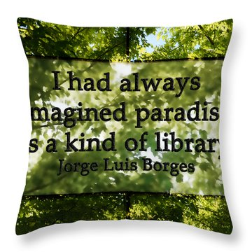 Books Are A Paradise Throw Pillow by Angelina Vick