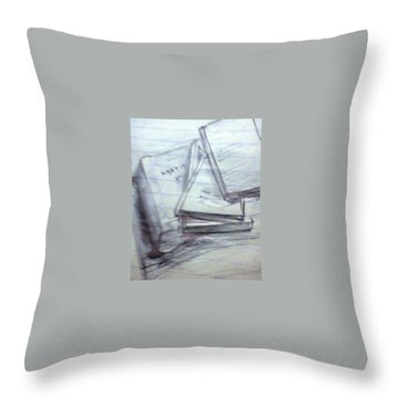 Books Throw Pillow by Madhusudan Bishnoi