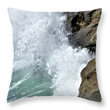 Throw Pillow featuring the photograph Boom by Bob Wall