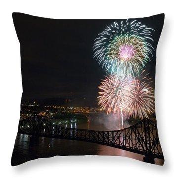 Beaver County Fireworks 3 Throw Pillow