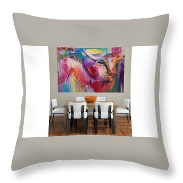 Boom Throw Pillow by Heather Roddy