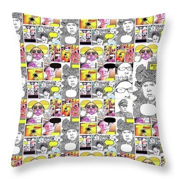 Boom Times 4 Throw Pillow