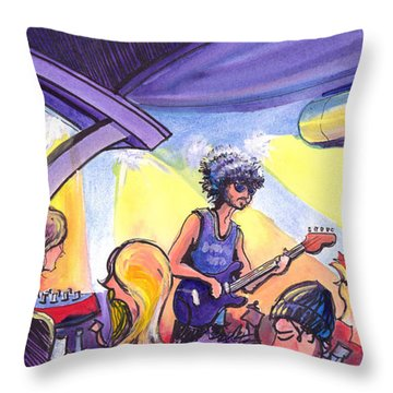 Boombox At The Barkley Throw Pillow by David Sockrider
