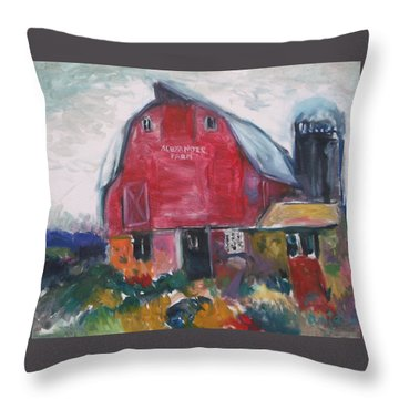 Boompa's Barn Throw Pillow
