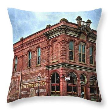 Boomtown Saloon Jacksonville Oregon Usa Throw Pillow