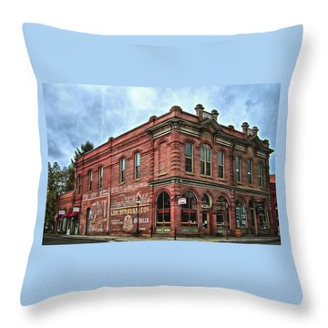 Boomtown Saloon Jacksonville Oregon Usa Throw Pillow