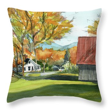 Boone Bungalow And Barn Throw Pillow