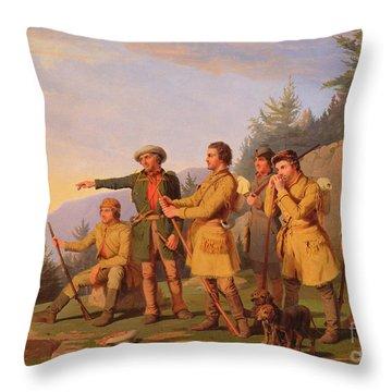 Boone's First View Of Kentucky Throw Pillow