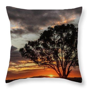 Boorowa Sunset Throw Pillow