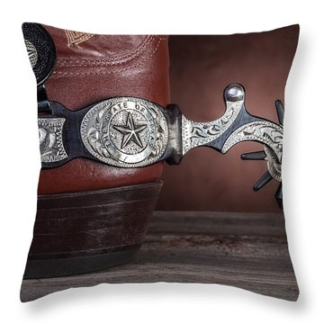 Boot Heel With Texas Spur Throw Pillow