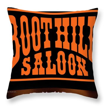 Boot Hill Saloon Sign Throw Pillow by DigiArt Diaries by Vicky B Fuller