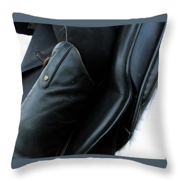 Boot Top Throw Pillow by Roena King