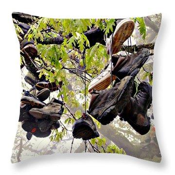 Boot Tree At Neels Gap Throw Pillow