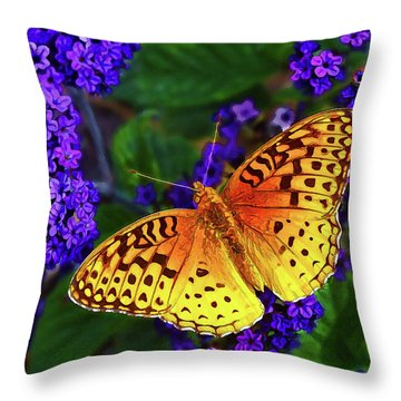 Boothbay Butterfly Throw Pillow