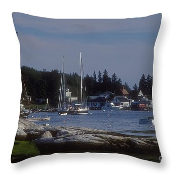 Boothbay Harbor In Maine Throw Pillow