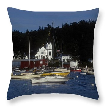Boothbay Harbor Maine 2 Throw Pillow