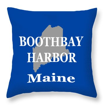 Throw Pillow featuring the photograph Boothbay Harbor Maine State City And Town Pride  by Keith Webber Jr