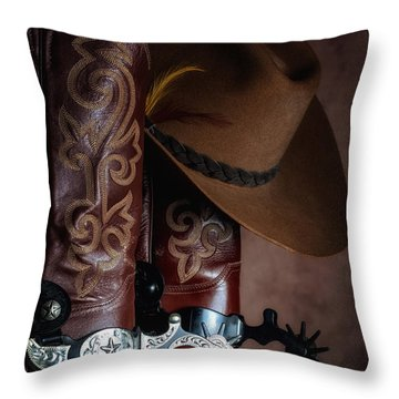 Boots And Spurs Throw Pillow