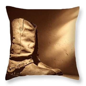 Boots At The Hacienda  Throw Pillow