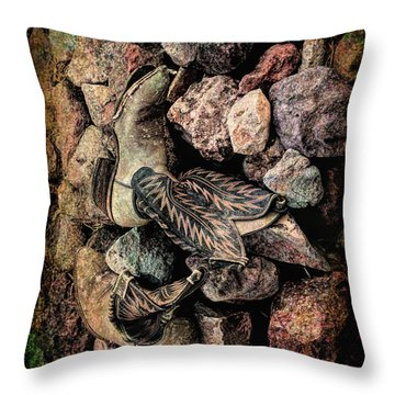 Throw Pillow featuring the photograph Boots by Michael Hope