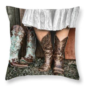 Boots X 2 Throw Pillow