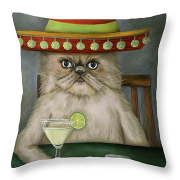 Boozer 3 Throw Pillow