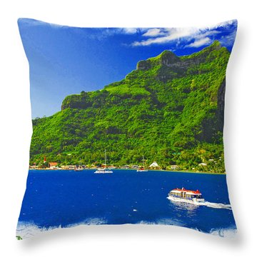 Bora Bora Fp Ver 1 Throw Pillow