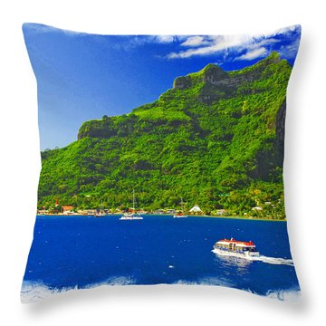 Bora Bora French Poynesia Ver 2 Throw Pillow