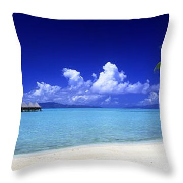 Bora Bora South Pacific Throw Pillow by Panoramic Images