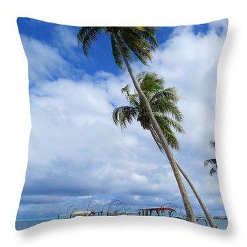 Bora Bora View Throw Pillow