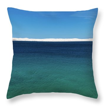 Bora In Velebit Kanal I Throw Pillow