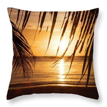 Boracay Philippians 5 Throw Pillow by Mark Ashkenazi