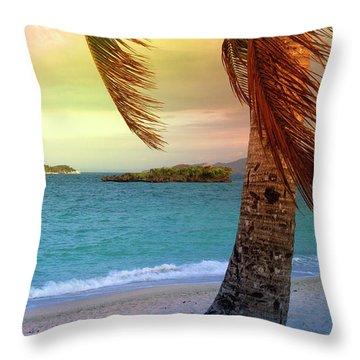 Boracay Philippians 6 Throw Pillow by Mark Ashkenazi