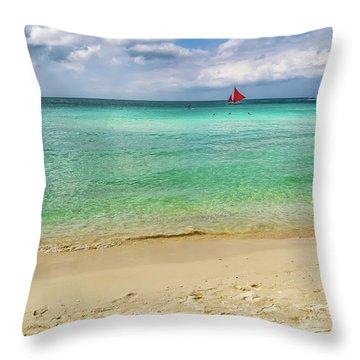 Boracay Seascape Throw Pillow
