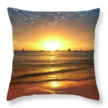 boracay,Philippians 4 Throw Pillow