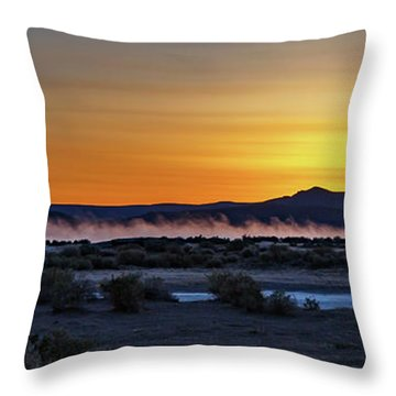 Throw Pillow featuring the photograph Borax Lake At Sunrise by Cat Connor