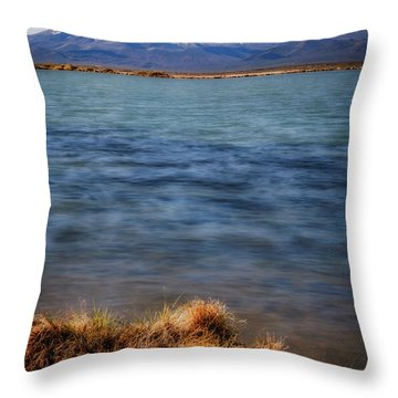 Throw Pillow featuring the photograph Borax Lake by Cat Connor