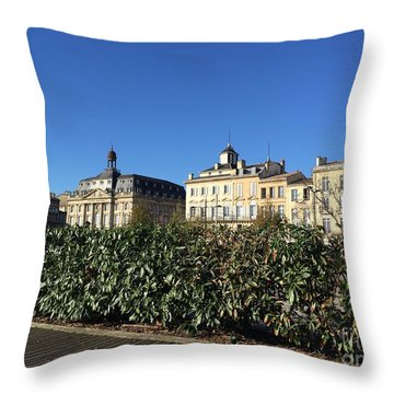 Bordeaux Beauty Throw Pillow